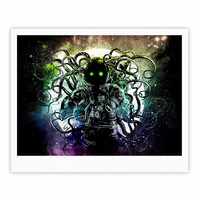 """Frederic Levy-Hadida """"Terror From Deep Space"""" Teal Purple Fine Art Gallery Print"""