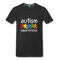 Autism Awareness Puzzle T-Shirt - Family, Dad, Mom
