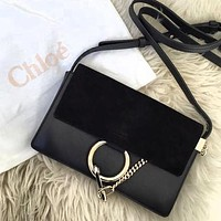 """Chloe"" Popular Women Shopping Leather Shoulder Bag Crossbody Satchel Black"