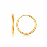 Polished Endless Hoop Earrings in 14K Yellow Gold