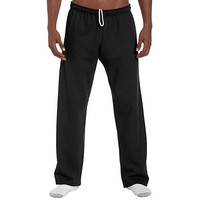 Gildan Open Bottom Sweatpants Black -Medium