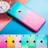 Newest Colorful TPU  iPhone 5s 6 6s Plus Case Cover Gift