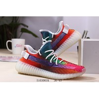 Adidas Yeezy Boost 350 V2 Reflective Kanye Colorful Ice Powder Running Shoes