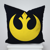 Star Wars Rebel Logo Square Pillow Cover, Pillow Case, Cushions Pillow Cover, Home Decor Pillow, Bed Pillow