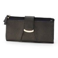 Apt. 9 Heather Soft Clutch Wallet (Black)
