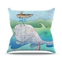 """Catherine Holcombe """"I'm on a Boat"""" Throw Pillow"""