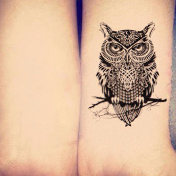 Owl Temporary Tattoo