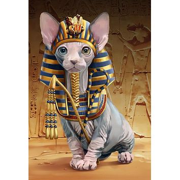 5D Diamond Painting Egyptian Sphynx Cat Kit