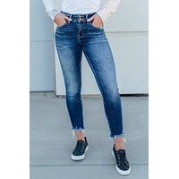 Flying Monkey Distressed Hem Skinnies