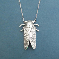 Silver, Cicada, Necklace, Moder, Unique, Cicada, Necklace, Birthday, Best friends, Sister, Gift, Jewelry