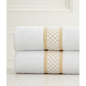 Julia Embroidered Bath Towels by Legacy Home