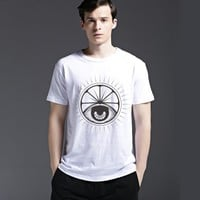 Summer Casual Strong Character Tee Creative Cotton Short Sleeve Men's Fashion T-shirts = 6451045187