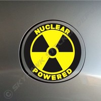 Nuclear Powered Funny Sticker Vinyl Decal Radiation Car Truck Motorcycle Macbook