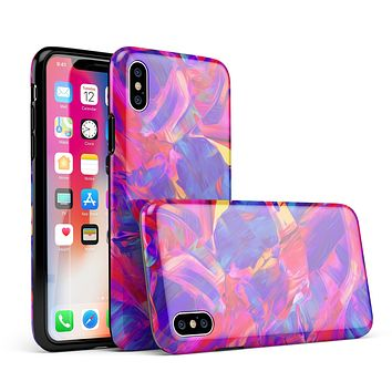 Liquid Abstract Paint Remix V33 - iPhone X Swappable Hybrid Case