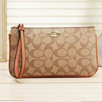 COACH Newest Popular Shopping Bag Leather Handbag Wrist Bag Purse Wallet 4#