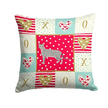Egyptian Mau Cat Love Fabric Decorative Pillow CK5608PW1414