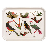 Patterned tray - White/Birds - Home All | H&M GB