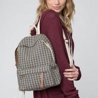 JOHN GALT PLAID BACKPACK