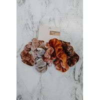 Kitsch Tie Dye Scrunchies - Rust