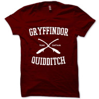 HARRY POTTER Shirt Gryffindor Quidditch T-Shirt Black White Gray Maroon Unisex T-Shirt Tee S,M,L,XL #1