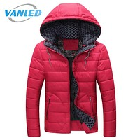 2017 Winter Jacket Men Fashion New Arrival Casual Slim Cotton Thick Mens Coats Parkas With Hooded Warm Overcoats Clothing