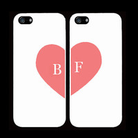 best bitches cases one for you one for your best friend/bitch iPhone 4 iPhone 4s iPhone 5 pink heart trendy