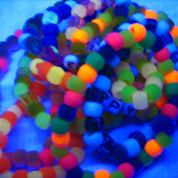 10 Kandi  - Bracelets - Glow in the Dark - Raver / Scene