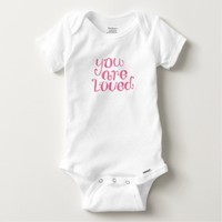 You Are Loved Typography Baby Onesuit
