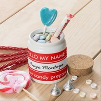Funny Hello my name is.... Candy Jar