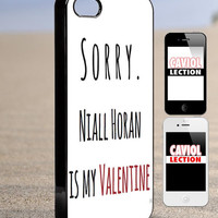 Niall horan is my valentine - iPhone 4/4s/5/5s/5c Case - Samsung Galaxy S3/S4 - Blackberry z10 - iPod 4/5 - Black or White