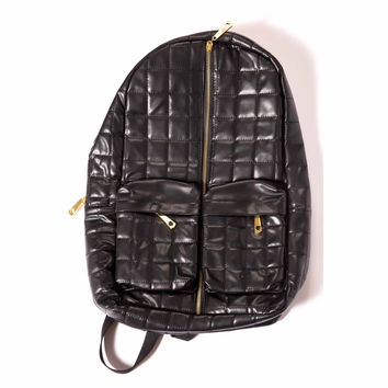 Quilted Leather Backpack // Black Label