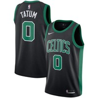 Jayson Tatum Boston Celtics # 0 Nike Black Swingman Statement Edition Jersey - Best Deal Online