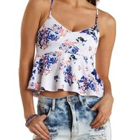 Floral Baby Peplum Tank Top by Charlotte Russe