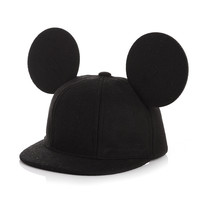 Toddler Children Boys Girls Cap Baby Baseball Caps Infant Kids Winter Hats Autumn With Cute Ears Casual Hip Hop Woolen Snapback