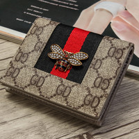 fashionsel GUCCI Women Fashion bag printed multi-card purse