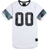 On The Byas Tropical Mesh Raglan Jersey - Mens Tee - White