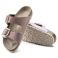 Best Online Sale Birkenstock Arizona Big Buckle Leather Ceramic Pattern Rose 1009936/1