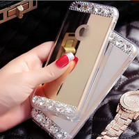 Bling Crystal Electroplated Mirror Phone Case Michael Kors Inspired for iphone 6 6s for iphone 6 6s  plus
