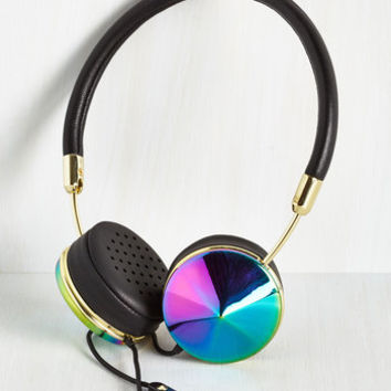 Music You Heard the Glam Headphones in Iridescent by ModCloth