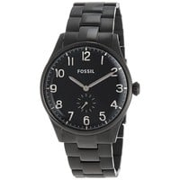 Fossil Men's FS4854 'The Agent' Black Stainless Steel Watch