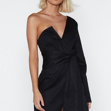Kinda Into It One Shoulder Dress