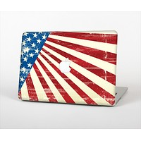 """The Vintage Tan American Flag Skin Set for the Apple MacBook Pro 13"""""""