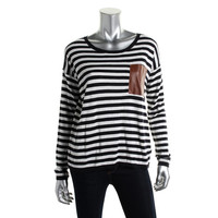 MICHAEL Michael Kors Womens Knit Striped Pullover Top