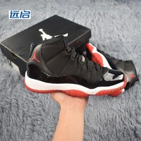 Air Jordan 11 Bred Black White Varsity Red Playoffs