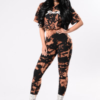 Squad Up Leggings - Black/Rust