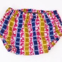 Pink Stripes African Wax print Baby Bloomers