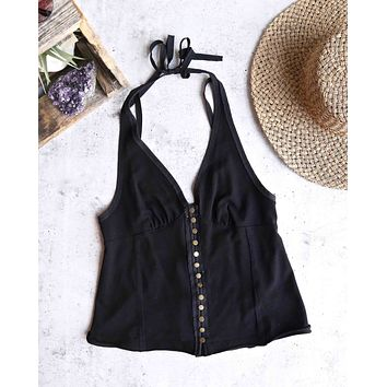 Free People - Solid Mylo Tank in Black