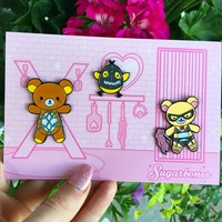 Kinky Kuma ♥ Enamel Pin Set sold by SUGARBONES