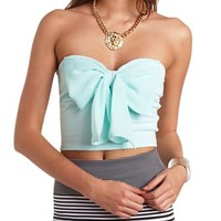CHIFFON BOW TUBE TOP