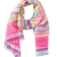PS from Aero Girls Sequin Stripe Scarf - Pink/Purple/White, One